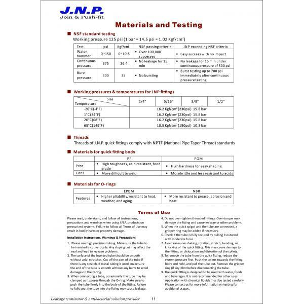 NSF Test and material