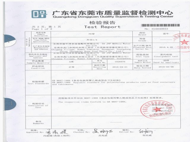 Administration of Quality and Technology Supervision of Guangdong Province (AQTSGD) approval